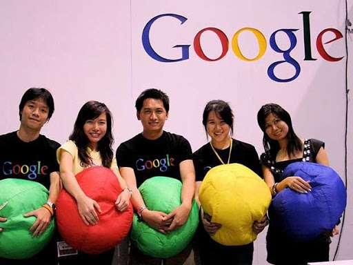 trabajadores en google